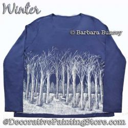 Winter (Trees) DOWNLOAD Painting Pattern - Barbara Bunsey