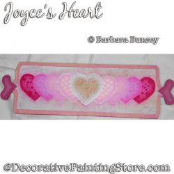 Joyces Heart Painting Pattern PDF DOWNLOAD - Barbara Bunsey