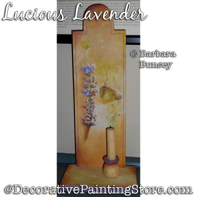 Lucious Lavender Painting Pattern PDF DOWNLOAD - Barbara Bunsey