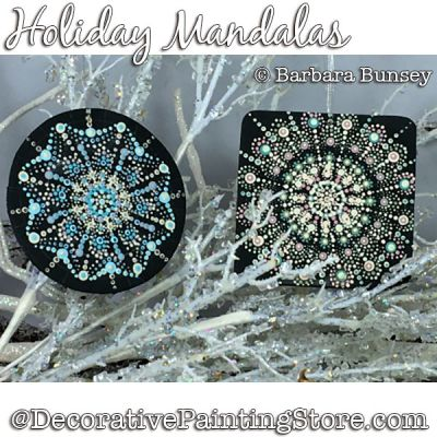 Holiday Mandalas Painting Pattern PDF DOWNLOAD - Barbara Bunsey
