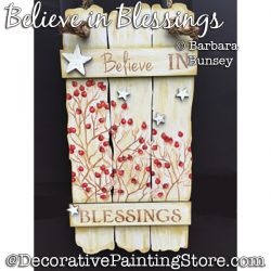 Believe in Blessings (Bittersweet) Painting Pattern PDF DOWNLOAD - Barbara Bunsey