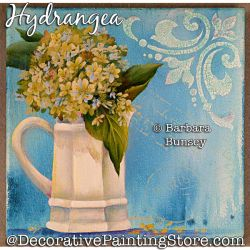 Hydrangea Painting Pattern PDF DOWNLOAD - Barbara Bunsey
