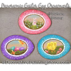 Panoramic Easter Egg Ornaments Painting Pattern PDF DOWNLOAD - Barbara Bunsey