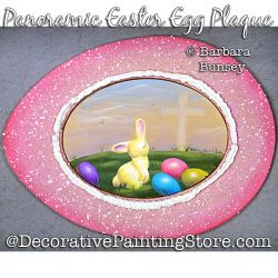 Panoramic Easter Egg Plaque Painting Pattern PDF DOWNLOAD - Barbara Bunsey