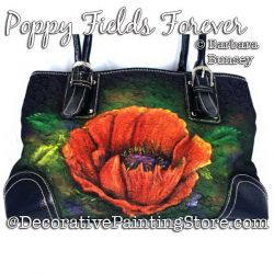 Poppy Fields Forever Painting Pattern PDF DOWNLOAD - Barbara Bunsey