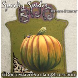 Spooky Spider (Pumpkin) Painting Pattern PDF DOWNLOAD - Barbara Bunsey