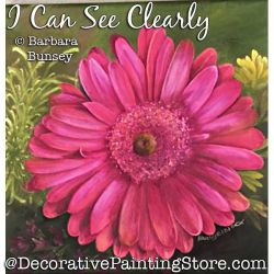 I Can See Clearly (Pink Daisy) Painting Pattern PDF DOWNLOAD - Barbara Bunsey