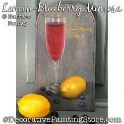 Lemon Blueberry Mimosa Painting Pattern PDF DOWNLOAD - Barbara Bunsey