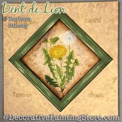 Dent de Lion (Dandelion) Painting Pattern PDF DOWNLOAD - Barbara Bunsey