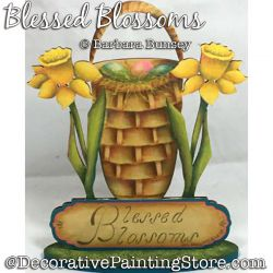 Blessed Blossoms (Daffodils) Painting Pattern PDF DOWNLOAD - Barbara Bunsey