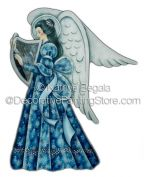 Angel with Harp ePattern - Kathye Begala CDA - PDF DOWNLOAD