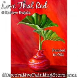 Love That Red (Oil) Painting Pattern - Kathye Begala - PDF DOWNLOAD