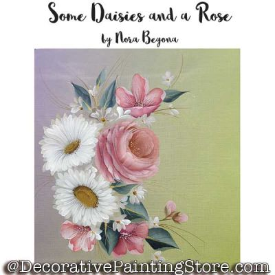 Some Daisies and a Rose ePattern - Nora Begona - PDF DOWNLOAD