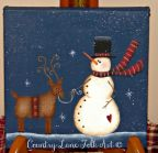 Snowman and the Reindeer Pattern - Becky Levesque - PDF DOWNLOAD