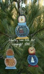 Snow Globe Ornaments Pattern - Becky Levesque - PDF DOWNLOAD