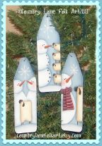 Snowman & Sheep Mini Ironing Board Ornaments Pattern - Becky Levesque - PDF DOWNLOAD