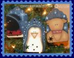 Winter Friends Tag Ornaments Pattern - Becky Levesque - PDF DOWNLOAD