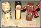 We Three Blockheads Ornament Pattern - Becky Levesque - PDF DOWNLOAD