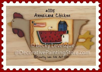 Americana Chicken Pattern - Becky Levesque - PDF DOWNLOAD