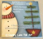 Snowman Mini Canvas Pattern - Becky Levesque - PDF DOWNLOAD