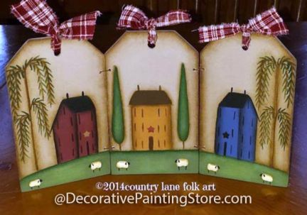 Saltbox House Tag Triptych Pattern - Becky Levesque - PDF DOWNLOAD
