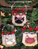 Christmas Chicken Ornaments  Pattern - Becky Levesque - PDF DOWNLOAD