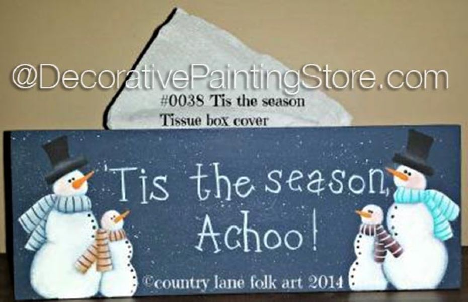 Tis the Season Tissue Box Cover Pattern - Becky Levesque - PDF DOWNLOAD