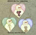 Be My Valentine Ornaments Pattern - Becky Levesque - PDF DOWNLOAD