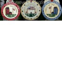 Land That I Love Plate Ornaments ePattern - Becky Levesque - PDF DOWNLOAD