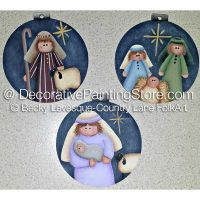 Silent Night Ornaments ePattern - Becky Levesque - PDF DOWNLOAD
