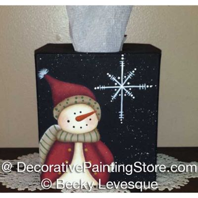 See a Snowflake Tissue Box ePattern - Becky Levesque - PDF DOWNLOAD