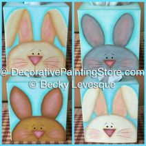 Bunny Tissue Box - Becky Levesque - PDF DOWNLOAD
