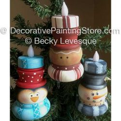 Christmas Lights Ornaments - Becky Levesque - PDF DOWNLOAD