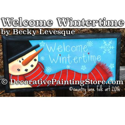 Welcome Wintertime - Becky Levesque - PDF DOWNLOAD