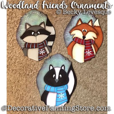 Woodland Friends Ornaments - Becky Levesque - PDF DOWNLOAD