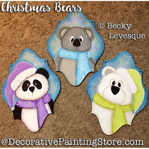Christmas Bear Ornaments - Becky Levesque - PDF DOWNLOAD