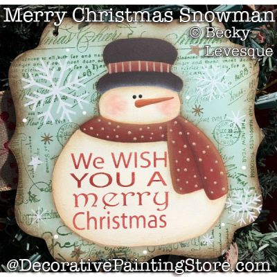 Merry Christmas Snowman - Becky Levesque - PDF DOWNLOAD