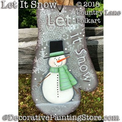 Let It Snow Mitten - Becky Levesque - PDF DOWNLOAD
