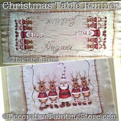 Christmas Table Runner DOWNLOAD  Painting Pattern - Luciana Brini