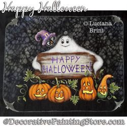 Happy Halloween Painting Pattern PDF DOWNLOAD - Luciana Brini
