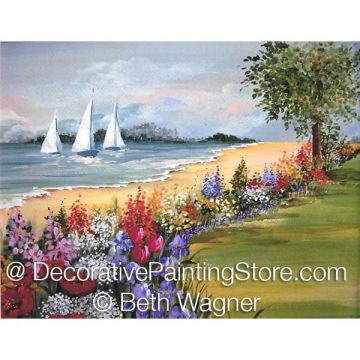 Seaside Garden ePattern - Beth Wagner - PDF DOWNLOAD
