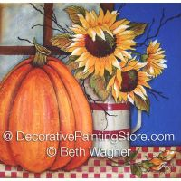 Sunflowers in Fall ePattern - Beth Wagner - PDF DOWNLOAD