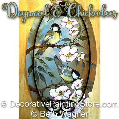 Dogwood and Chickadees ePattern - Beth Wagner - PDF DOWNLOAD