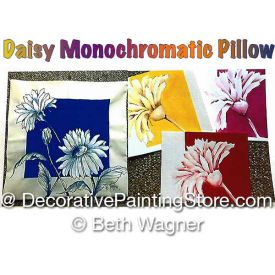 Daisy Monochromatic Pillow ePattern - Beth Wagner - PDF DOWNLOAD