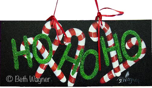 Ho Ho Ho Candy Canes Sign e-Pattern DOWNLOAD