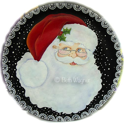 Ho Ho Santa Plate Pattern DOWNLOAD