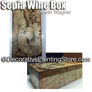Sepia Wine Box ePattern - Beth Wagner - PDF DOWNLOAD