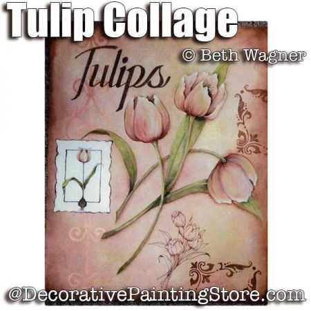 Tulip Collage ePattern - Beth Wagner - PDF DOWNLOAD