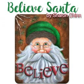 Believe Santa Video Tutorial and ePattern - Sharon Chinn
