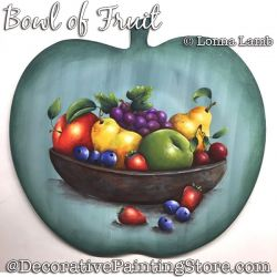 Bowl of Fruit DOWNLOAD Painting Pattern - Lonna Lamb